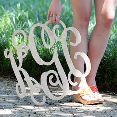 Large Wooden Monogram from Marleylillly.com!!