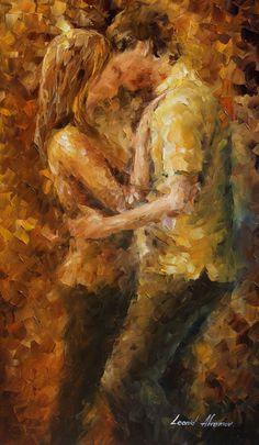 Leonid Afremov, paint, oil, impressionism, abstract, couple, love, goodbye, man, woman, boyfriend, girlfriend, figure, beauty, new, original, collection, canvas, art, fine, famous artist, official, page, large artwork, room decor, beautiful, nostalgic,