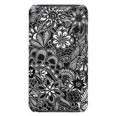 A unique Gardens #5 hand drawn art iPod case Barely There iPod Cover