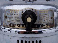 Retro mid-century vintage chrome Hamilton Beach model no. Custard Desserts, Hamilton Beach, Chrome, Electric, Mid Century, Base, Cream, Retro, Model