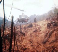 B Company, 1st Platoon 7 Regiment 1st Cavalry Division Airborne in the air assault into the mountains around Khe Sanh, 1968.
