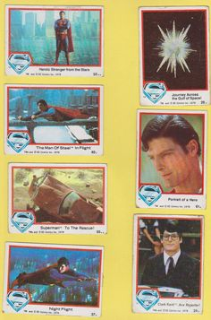 1978 Superman The Movie Trading Cards