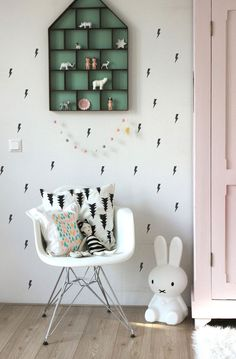 Little Lightning Bolts - Wall Sticker by agumigu on Etsy https://www.etsy.com/listing/243093771/little-lightning-bolts-wall-sticker