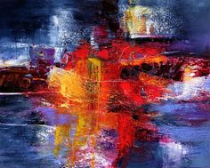 Gérard Stricher is an artist in Paris who beautifully arranges vibrant colors into abstract paintings.