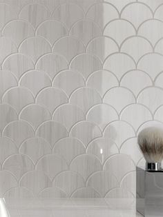scalloped tile. so clean and divine.