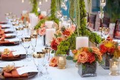 Centros de mesa para boda estilo rústico Ve más ideas modernas en IDEAS de EVENTOS
