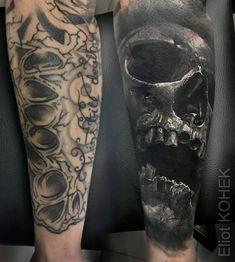 Fusion Ink killer Fusion Ink killer This image has. Tribal Tattoos, Evil Tattoos, Tattoos Skull, Badass Tattoos, Life Tattoos, Black Tattoos, Body Art Tattoos, Tattoo Sleeve Cover Up, Cover Up Tattoos For Men