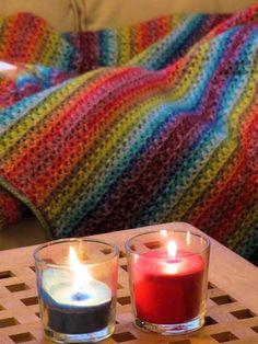 Blij dat ik brei: Warm, kleurig dekentje met Stonewashed van Scheepjeswol