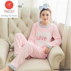 116d6f8cbc Winter Thick Flannel Pajamas Warm Women Sleepwear Set – Trending  Accessories Sleepwear Sets