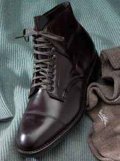 Alden Cordovan Cap Toe #Boot #men's #shoes Alden Cordovan, Cordovan Shoes, Mens Fashion Shoes, Men S Shoes, Fashion Boots, Dress With Boots, Dress Shoes, Alden Boots, Sock Shoes