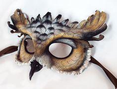 Pharaoh Eagle Owl Leather Mask by LibertiniArts on Etsy