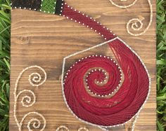String Art DIY Kit Red Wine DIY Crafts Home by StringoftheArt