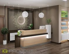 Furniture for beauty salons and hairdressers Soul, beauty salon, St. Petersburg - Decoration For Home Office Reception Design, Medical Office Design, Reception Desk Design, Office Interior Design, Lobby Interior Design, Office Interiors, Office Furniture Design, Salon Interior Design, Clinic Interior Design