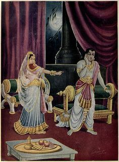 Urvashi was enraged and informed Arjun that this was outrageous and such norms did not apply to the gods, but Arjun could not agree with her proposal.