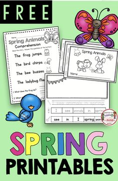 FREE WORKSHEETS for Guided Reading in kindergarten - huge pack of FREEBIE spring and Easter printables for reading and writing - small groups - reading workshop and easy spring literacy centers Kindergarten Freebies, Homeschool Kindergarten, Kindergarten Literacy, Literacy Centers, Homeschooling Resources, Classroom Resources, Classroom Decor, Special Education Classroom, Reading Workshop
