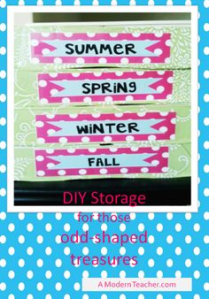 Organization tips and FREE Seasonal Labels