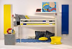 Bisque decorative panel radiator to add colour to kids rooms