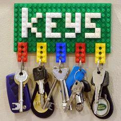 Cómo hacer un colgador de llaves con piezas de LEGO lodijoella: Manualidades paso a paso