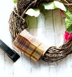 Geranium Monogram Wreath & My Secret Pinterest Boards - It All Started With Paint Initial Door Wreaths, Monogram Wreath, Monogram Letters, Pink Wreath, Hydrangea Wreath, Pink Hydrangea, Burlap Ribbon, Wreath Ideas, Geraniums