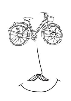 Let's go cycling Art Print