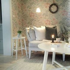 Swedish Cottage, Red Cottage, Laura Ashley Home, Scandi Style, Rustic White, Interior Exterior, My Dream Home, Beautiful Homes, Love Seat