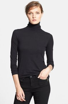 Vince 'Favorite' Soft Cotton Turtleneck available at #Nordstrom