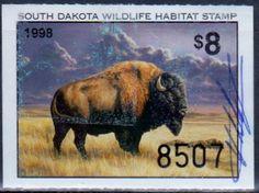 South Dakota Wildlife Habitat Stamp, 1998.