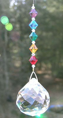crystal sphere rainbow prism