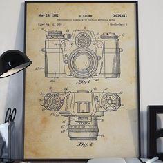 Camera patent art circa 1962 perfect for photographers & camera lovers! #camera #photography #patentart #posters #prints #patent #art #photographer #artoftheday #cameras #vintage #1962