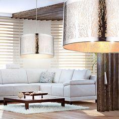 Schön Design Pendel Leuchte Baum Muster Decken Hänge Lampe Wohn Ess Zimmer Edel  Stahl