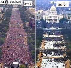 #OBAMA VS #TRUMP #Inauguration