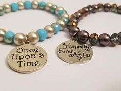 Check out this item in my Etsy shop https://www.etsy.com/listing/590768616/hers-and-hers-bracelet-set-happily-ever