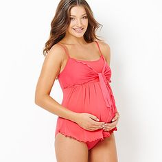 Maternity Baby Doll One-Piece Swimsuit