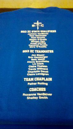 St. Saint Cecilia High School - Cross Country - State Qualifiers - BACK - t-shirt - tee shirt - design - screen print  - screenprint - Kearney, NE - Shirt Shack