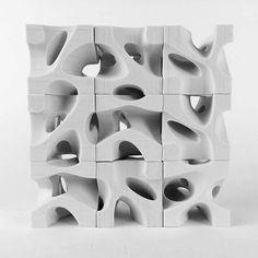 Casting Mass. First Year. Borhani Studio. Nick Houser. #modules #aggregation #mass #architecturestudio #concretecasting Parametrisches Design, Module Design, Facade Design, Design Model, Parametric Architecture, Parametric Design, Architecture Design, Plaster Sculpture, Concrete Sculpture
