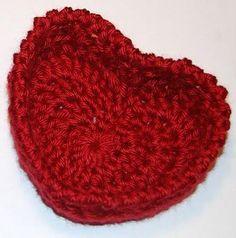 (4) Name: 'Crocheting : Hugs and Kisses Heart Basket