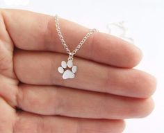 Paw Print Pendant Necklaces- Proceeds to Belize Humane Society