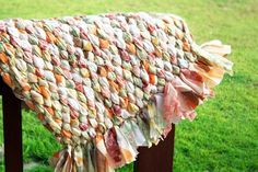 Braided rug out of old sheets. Partial pictorial