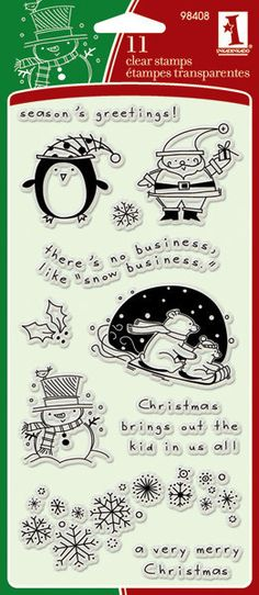 Inkadinkado Christmas Characters Clear Stamps by BitsNPiecesGifts, $5.00