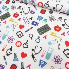 Especial Enfermagem - Design Leandro Torquato (50 cm x 1,50 m) Textiles, Textile Prints, Nurses Week Quotes, Nurse Party, Medical Wallpaper, Print Patterns, Iphone Wallpaper, Free Pattern, Projects To Try