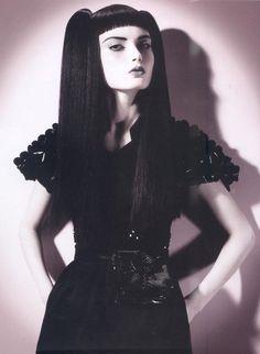 Dark Beauty, Gothic Beauty, Dark Fashion, Gothic Fashion, Estilo Dark, Gothic People, Emily The Strange, Goth Look, Gothic Models