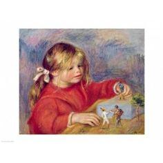 Claude Renoir at play c1905 Canvas Art - Pierre-Auguste Renoir (36 x 24)