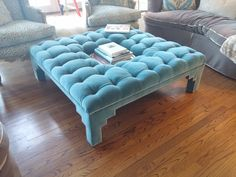 #GORGEOUS #Tufted #Ottoman! In love with this piece! #upholstery #interiors #interiordesign #connecticut #home #homedecor