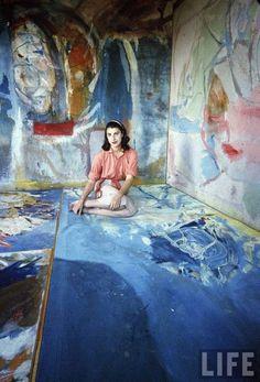Helen Frankenthaler, 1956. Photo by Gordon Parks (American, 1912-2006) (via:nevver: Small Joys)