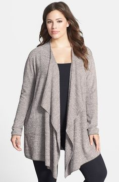 Barefoot Dreams® 'Bamboo Chic' Drape Front Cardigan (Plus Size) (Nordstrom Exclusive) available at #Nordstrom