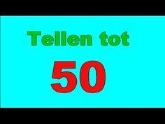 ▶ Tellen tot 50 vijftig peuters kleuters cijfers leren - YouTube I Love School, Juni, Growing Up, Kindergarten, Preschool, Student, Youtube, Education, My Love