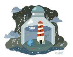 "Check out new work on my @Behance portfolio: ""lighthouse. illustration."" http://be.net/gallery/60517913/lighthouse-illustration"