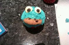 Cookie Monster cake #cookiemonster