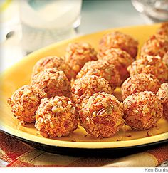Nutty Pimento Cheese Balls- These bite-size pimiento cheese balls from Jamie and Bobby Deen are a huge hit with kids (of all ages).