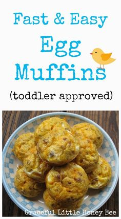 These egg muffins are great for an on the go meal and kids love them! Fast, quick and delicious! What more could you ask for? Plus, you can sneak veggies in and your kids won't even notice! :)